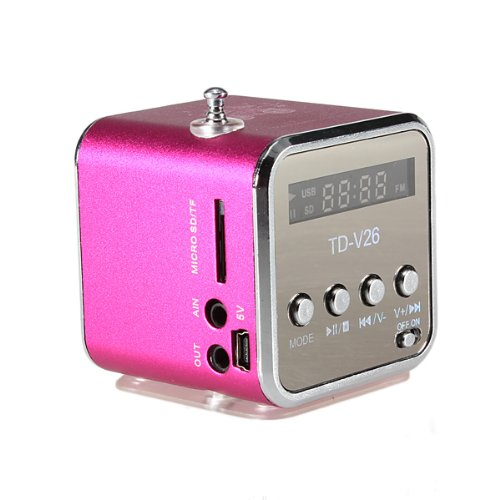 TD-V26 Tragbare Mini Digital Stereo Lautsprecher Speaker Sprecher Mp3 Musik Player FM Radio Micro SD TF