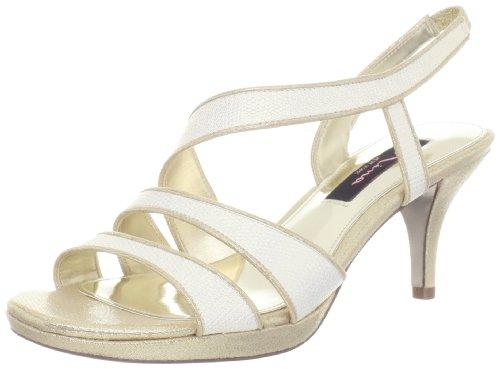 Nina Women's Nolga-YF Platform Sandal,Ivory,10.5 M US