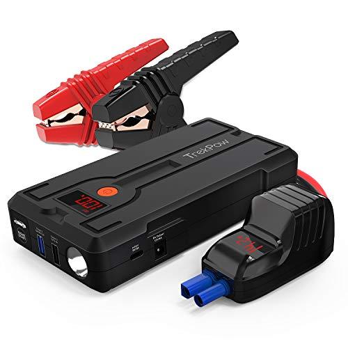 TrekPow G39 Booster Batterie, Jump Starter 1200A, Démarreur de Voiture Portable ( 6,5L Essence / 5,5L Diesel ), Booster pour Voiture et Moto avec Écran LCD, 4 Ports de Charge, Lampe LED, Certifié...