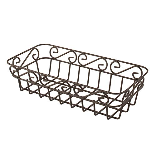 Spectrum Diversified Scroll Basket, Classic Kitchen Design for Breads, Roll, Muffin Pastries & Baked Good Storage, Traditional Style Snack & Food Holder for Serving, Bronze
