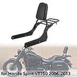 MotorFansClub Sissy Bar Backrest Fit For Compatible With Honda VT750C2 Shadow Spirit 2006-2013 and Honda VT750C2B Shadow Phantom 2006-2013