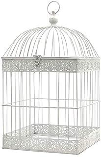 Lu0027ORIGINALE DECO Grande Cage Oiseaux Bougie Carré Blanc 62 Cm X 34 Cm X