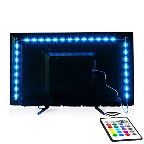 Tv Led Backlight,Maylit Pre-Cut 6.56ft Led Strip Lights for 40-60in Tv,4Pcs USB Powered Tv Lights kit with Remote,RGB Bias Lighting for Room Decor