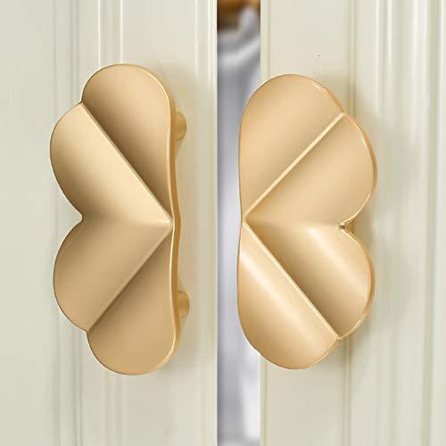 Manijas de muebles,manijas de cajones,dorado,instaladas en pares,manijas de cajones de puertas de gabinetes,manijas de gabinetes de baño minimalistas modernos Tornillos Incluidos,Tiradores de Muebles