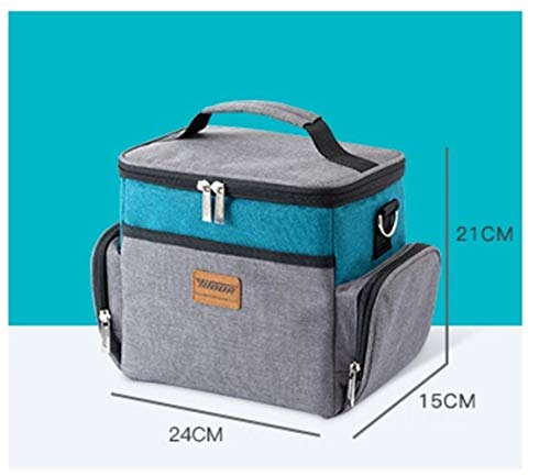 Nieuwe Fashion Large CapaCity lunchpakket, warmte-geïsoleerde levensmiddelenzak lunchpakket voor vrouwen en kinderen Casual picknick tas goede kwaliteit blauw