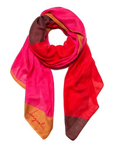 Desigual Damen FOULARD S-PATCH Schal, Rot (Rojo Loft 3088), One Size (Herstellergröße: U)