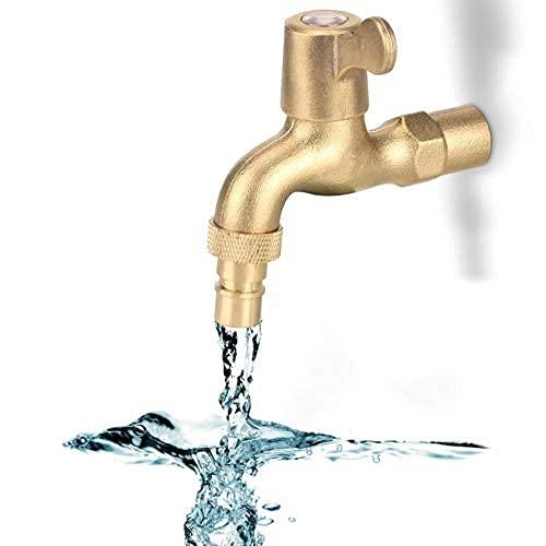 Grifo de lavadora de rosca macho G1 / 2', grifo de lavabo montado en la pared, fregona de baño, grifo de agua, grifo de agua robinet salle de bain