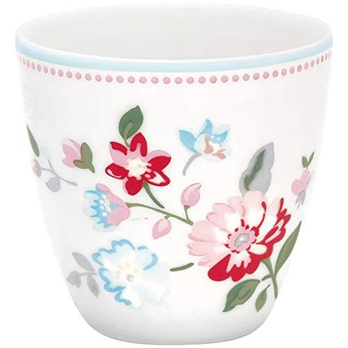 GreenGate - Becher, Tasse, Kaffeetasse, Mini Latte Cup - Sonia - Porzellan - White - 125 ml