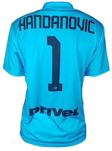 Camiseta oficial del Inter Handanovc 2019 – 20 para hombre, adulto o niño Samir 1 portero Capitán, Azzurrina, M