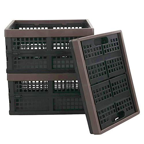 Kekow 15-QT Black Plastic Collapsible Storage Basket/Container, Folding Crates Storage, Set of 3