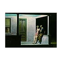 IDOLN1 エドワードホッパーサマーイブニングウォールアートキャンバス絵画ポスタープリントモダンペインティング壁の写真リビングルームの家の装飾-50x75cmフレームなし1PCS