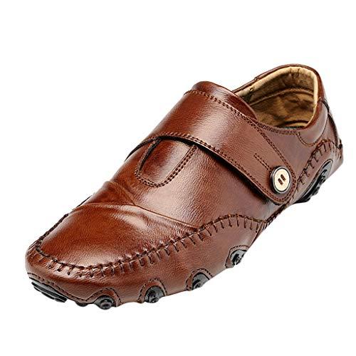HEETEY High-Top Casual VelvetShoes für Herren High-Top Outdoor Casual Ultra-LightShoes für Herren Retro Männer Casual Single Schuhe atmungsaktiv Casual Overalls Lederschuhe Freizeitschuhe