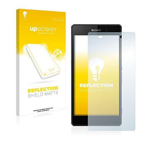 upscreen Entspiegelungs-Schutzfolie kompatibel mit Sony Xperia Z2 D6503 – Anti-Reflex Bildschirmschutz-Folie Matt