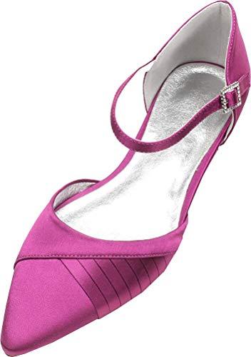 Las señoras Confort Ballet Flat Pumps Punta puntiaguda Vestido de boda Fiesta...
