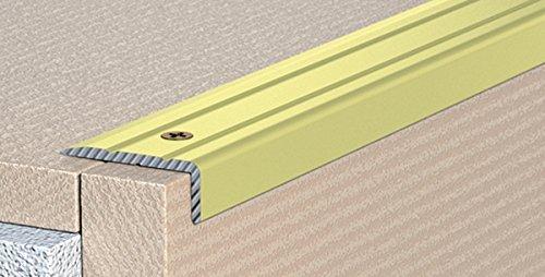 Perfil de cantos de escaleras para escalones de ángulo de escaleras–enroscado–25x 20mm–07de aluminio anodizado: Champagne (C)