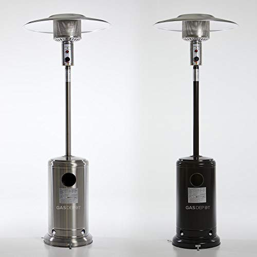 Glow Warm 13kw Gas Patio Heater (Black with Black HQ Cover)
