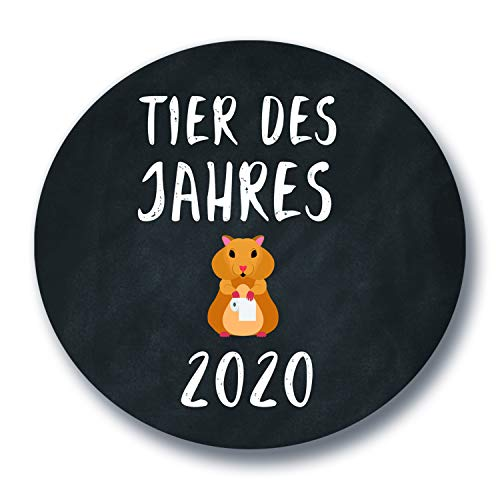 Polarkind Button XXL Anti-Hamster-Anstecker con Spruch- Hamsterkäufe - Klopapier/Nudeln/Corona-Virus 2020 / regalo Humor Pascua 59 mm