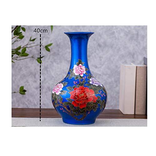 AJLNSL Escultura Creativa Cerámica Azul Y Blanca Hogar Salón Vinoteca Decoración Artesaníaapreciación De Bao LAN Estatuas
