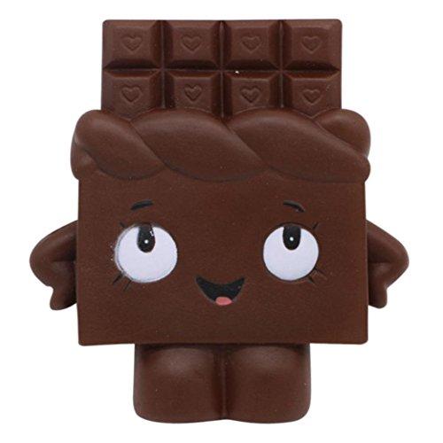 IGEMY Weiches Schokoladen-Toast-langsames Steigendes Pressungs-Stress-Helfer-Spielzeug für Kind (Schwarz)