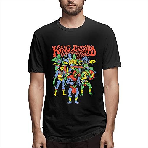 maichengxuan King Gizz-ard & The Liz-ard Wizard - Camiseta de manga corta para hombre, color negro