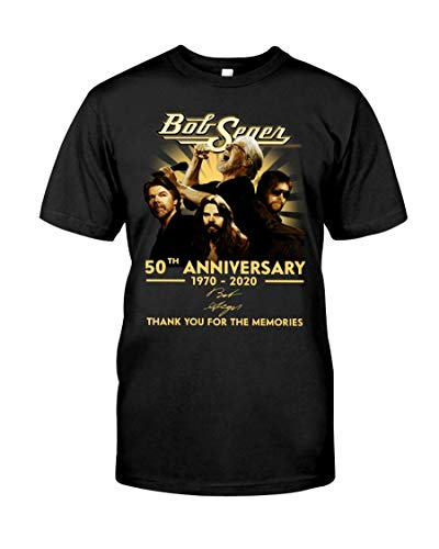 606 Custom Personalized Bob Seger 50th Anniversary Thank You for Memories 1970-2020 T-Shirt Gift