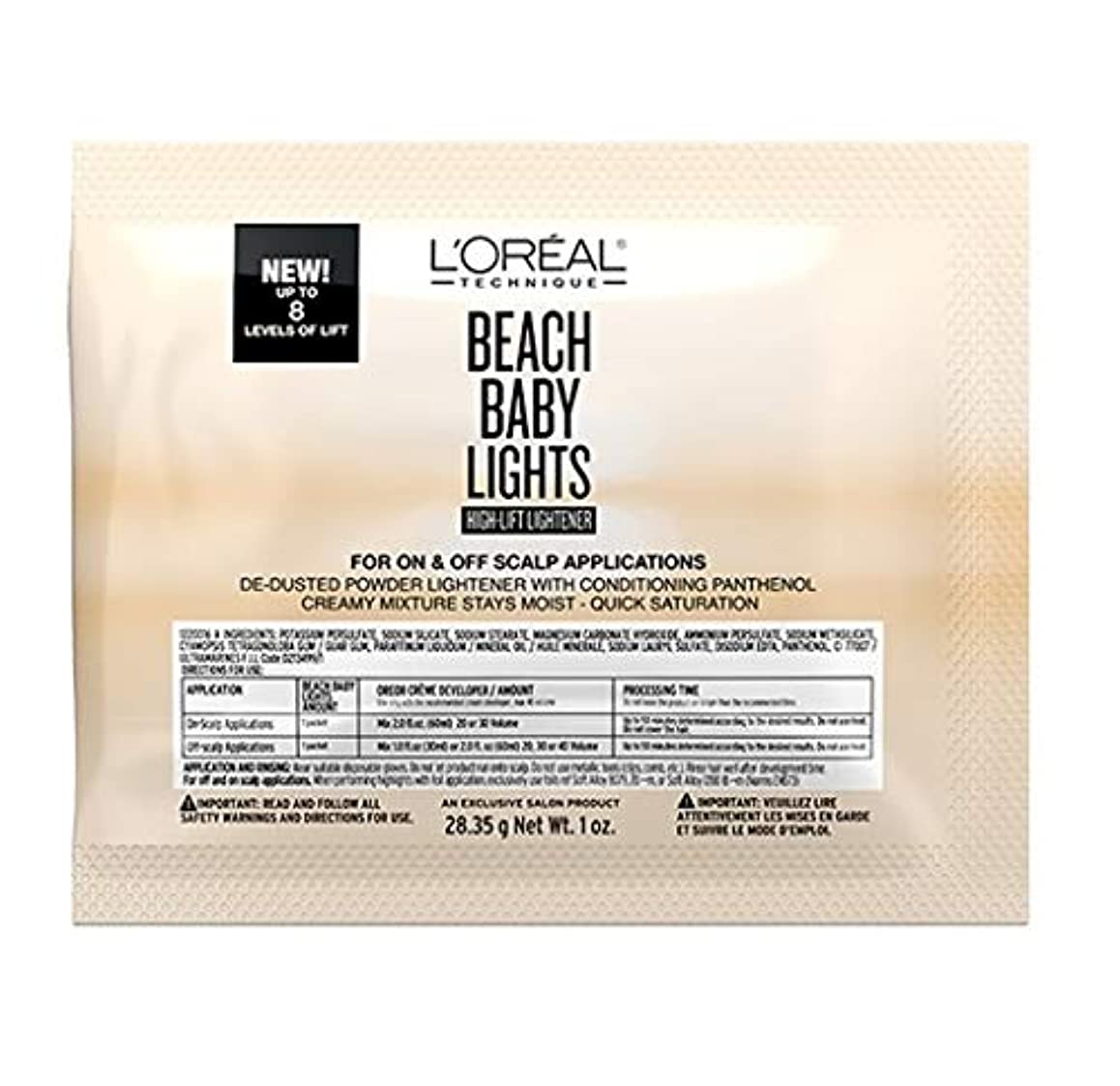 擬人ブラウン芸術的L'Oreal Technique - Beach Baby Lights - High-Lift Lightener Packette - 1oz / 28.35g