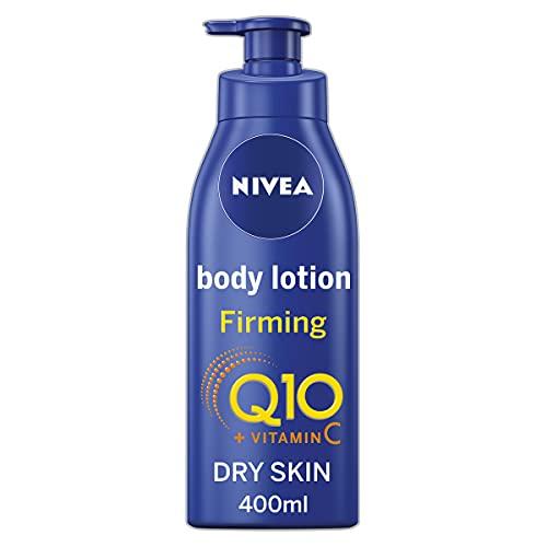 NIVEA Straffende Körperlotion Q10 + Vitamin C (400ml), straffende Körpercreme mit Q10 & Vitamin C, NIVEA Feuchtigkeitspflege für straffere Haut, NIVEA Body Lotion