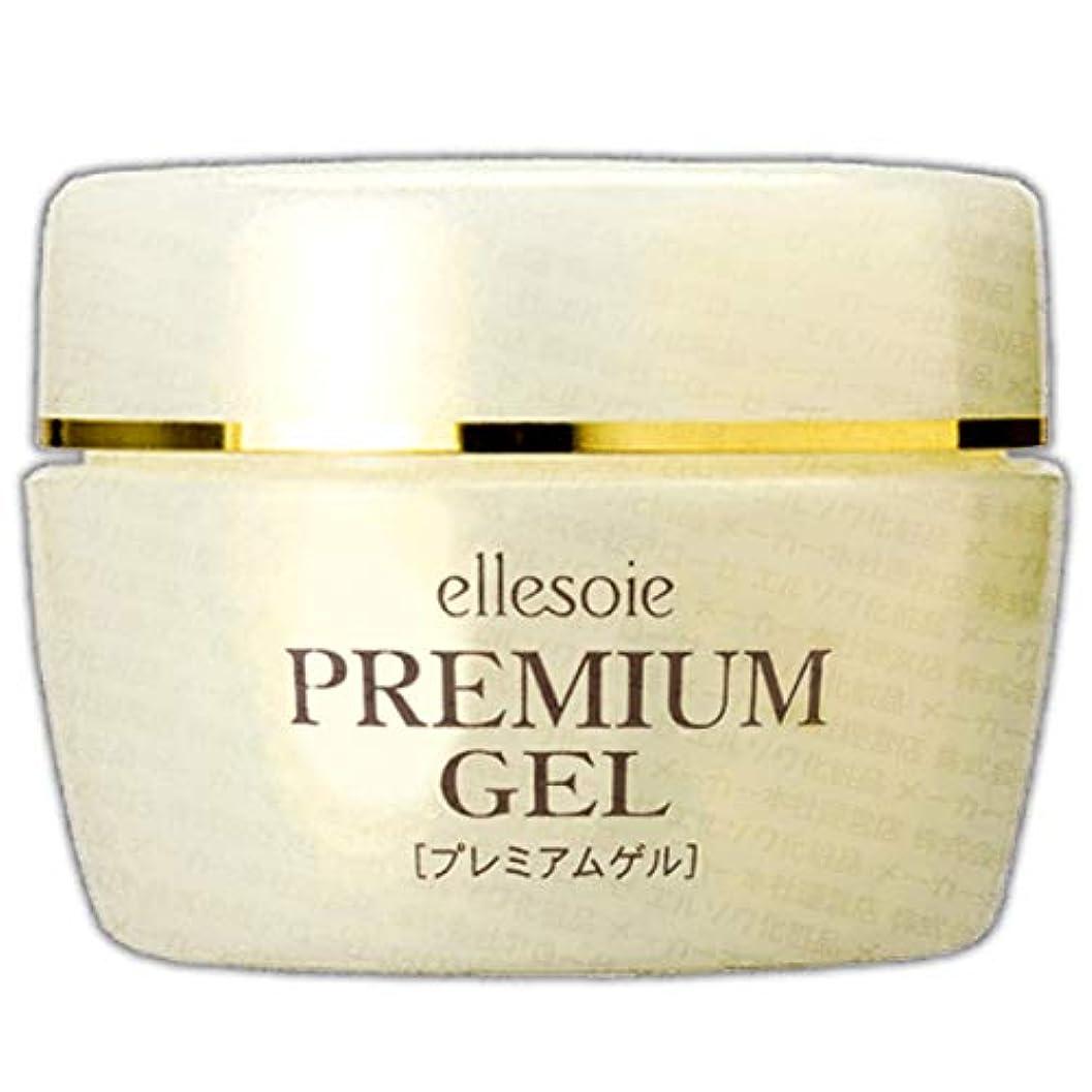 ほこり皮肉な撃退するエルソワ化粧品(ellesoie) プレミアムゲル 高保湿オールインワン (容器入り80g)