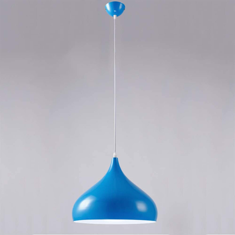 C-LC Restaurant-Kronleuchter im nordischen Stil Postmoderner einfacher Aluminium-Kronleuchter - Backende, Rostschutz, robust und langlebig,Blau,32cm
