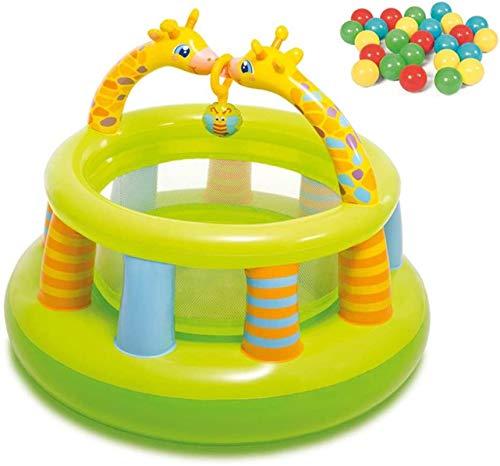 Vivid Casa Castello Gonfiabile per Bambini Palestra per Bambini con Recinzione 25 Palla oceanica e Pompa elettrica per Giardino Interno ed Esterno Parco Giochi per Bambini, 130 * 104 cm