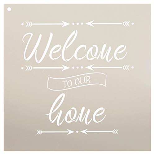"""Welcome to Our Home with Arrows Stencil by StudioR12 