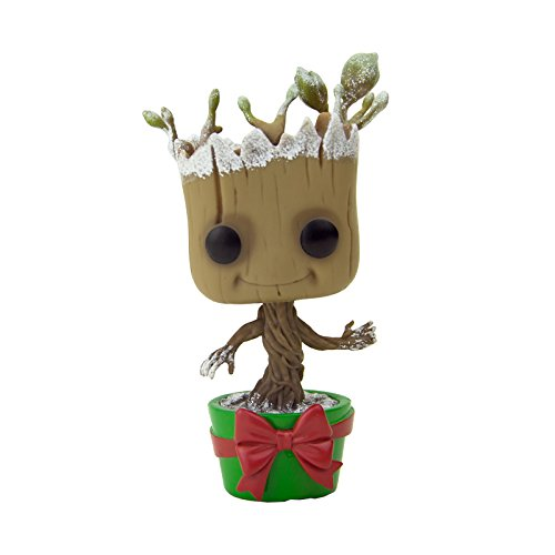 Funko 7256 – Gardiens de la Galaxie, Pop Vinyl Figure 101 Snowy Metallic Holiday Dancing Groot, 10 cm