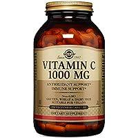 Solgar Vitamina C 1.000 mg, Luminosidad y Tonificación de Piel, Reduce el Cansancio, Apto para Veganos, 250 Cápsulas Vegetales