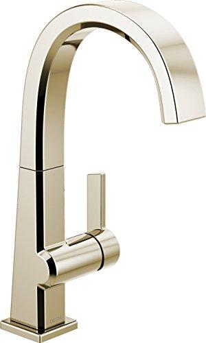Delta Faucet Pivotal Single-Handle Bar-Prep Kitchen Sink Faucet, Polished Nickel 1993LF-PN
