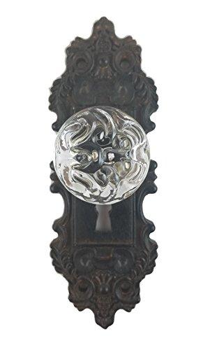 Tripar Decorative Pewter Wall Hook, Vintage Door Knob Style (Brown/Black), 1 Piece