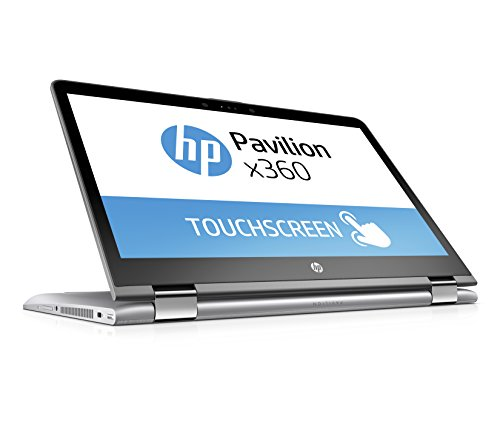 HP Pavilion x360 14-ba102ng 35,5 cm (14 Zoll Full HD IPS Touchdisplay) Convertible Laptop (Intel Core i5-8250U, 8GB RAM, 1TB HDD, 128GB SSD, NVIDIA GT 940MX 2GB, Windows 10 Home 64) silber
