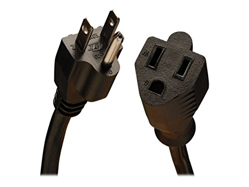 Tripp Lite Heavy-Duty Power Extension Cord 15A, 14AWG (NEMA 5-15P to NEMA 5-15R) 10-ft.(P024-010) Black