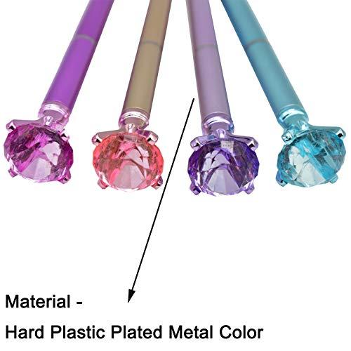 Maydahui 24PCS Diamond Ballpoint Pen Black Ink Retractable Crystal Jewel Pens Bling Metal Design for Girls Women Party Valentine's Day Photo #2