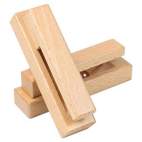 HTB Novelty Wood Adhesive Hooks Pack of 2, Creative No Nail Wooden Towel Wall Hooks, Bedroom Wall Hooks for Coat Clothes Shirt, Entryway Key Hook Without Nails