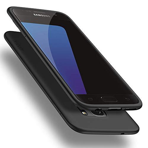 X-level Samsung Galaxy S7 Hülle, [Guardian Serie] Soft Flex TPU Case Ultradünn Handyhülle Silikon Bumper Cover Schutz Tasche Schale Schutzhülle für Galaxy S7 - Schwarz