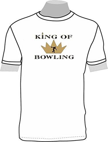 King of Bowling; T-Shirt weiß, Gr. 4XL; Unisex