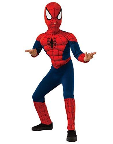 Marvel Spider-Man Costume pour enfants à torse musclé Taille M Âge de 5 à 7 ans 127-137 cm