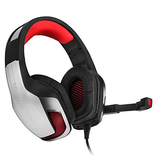Hunterspider V - 4 3.5mm Headsets Bass Gaming Headphones with Mic LED Light for Mobile Phone PC Xbox PC Laptop
