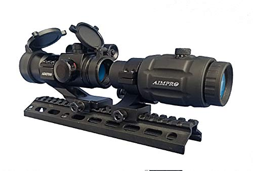 AIMPRO 3 x Magnifier and Red Dot Scope Combo with Flip to Side Mount