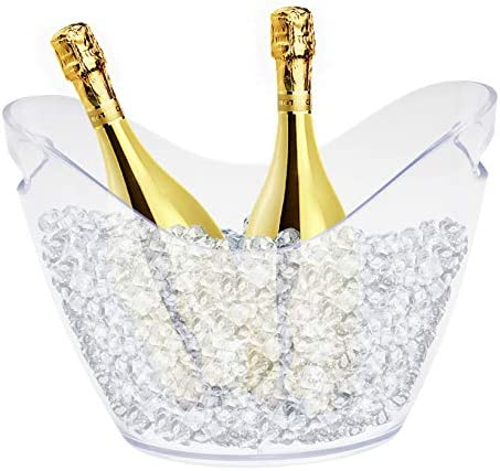 8L Beverage Tub Champagne Bucket with Handles Large Ice Buckets Beer Bucket for Families Parties product image