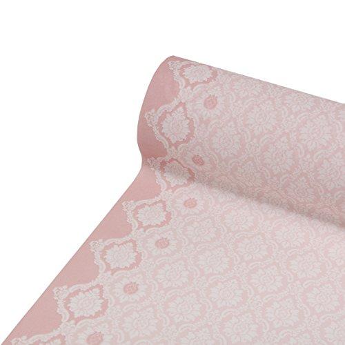 Sovie HORECA Tischläufer Mandy | Linclass® Airlaid Tischläufer 40cm x 24m | Tischdecken-Rolle stoffähnlich | Einmal-Tischdecke für Hochzeit & Partys | Rosa
