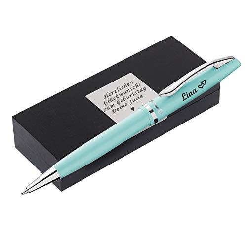 P E L I K A N Kugelschreiber mit Gravur als Geschenk & Wunschsymbol mit schöner Verpackung Kugelschreiber Jazz Pastell Mint PS19 - mit AMAZON KONFIGURATOR direkt online gestalten !
