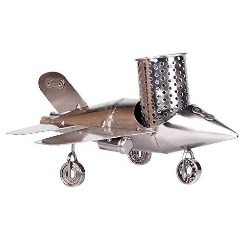 DX Persoonlijkheid Creatieve metalen houder Pen Vliegtuig Model Bureau Accessoires Decoratie Art Container Manager Vakantie
