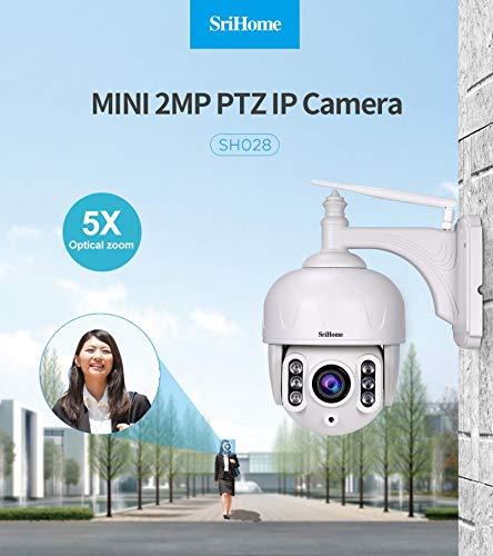 Ocamo Telecamera di Sorveglianza,Vitorcam Telecamera Esterno 5X Zoom Impermeabile Sricam 1080P infrarossi per Visione Notturna a infrarossi Spina AU