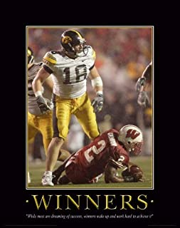 Iowa Hawkeye Football Motivational Poster Art Print 11x14 Nile Kinnick Stadium Herky